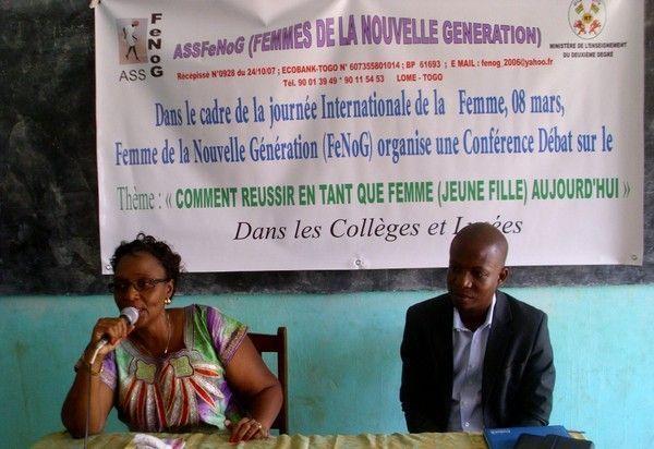 Le 8 mars à NDE Vakpo avec FENOG